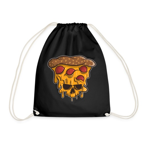Zombie Halloween Pizza Skull - Turnbeutel