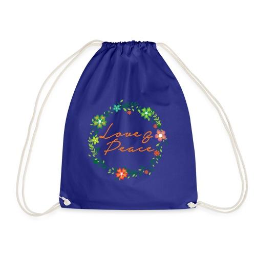 Love and Peace - Drawstring Bag