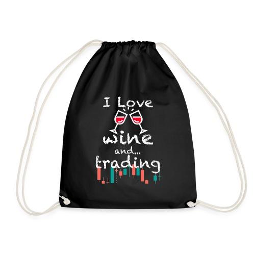 Trader Forex Wallstreet Stock market RedWine Glass - Sacca sportiva