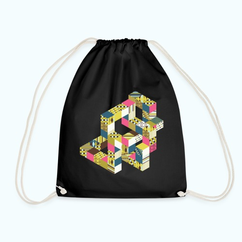 Optical illusion Bright colors - Drawstring Bag