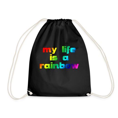 my life is a rainbow - Turnbeutel