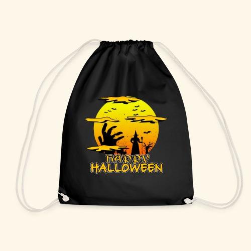 Halloween Hexe mit riesiger Hand - Happy Halloween - Turnbeutel
