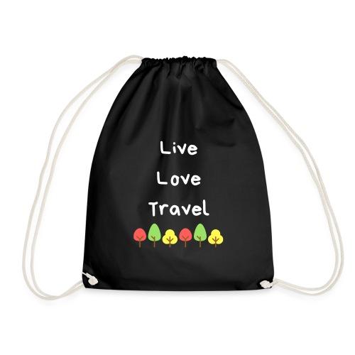 Live Love Travel weiss - Turnbeutel