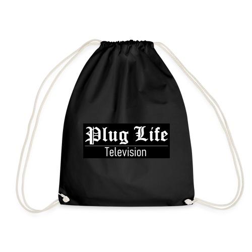 Plug Life Television Logo - Drawstring Bag