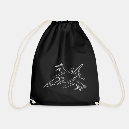 F-16 Viper / Fighting Falcon jet fighter / F16 - Drawstring Bag