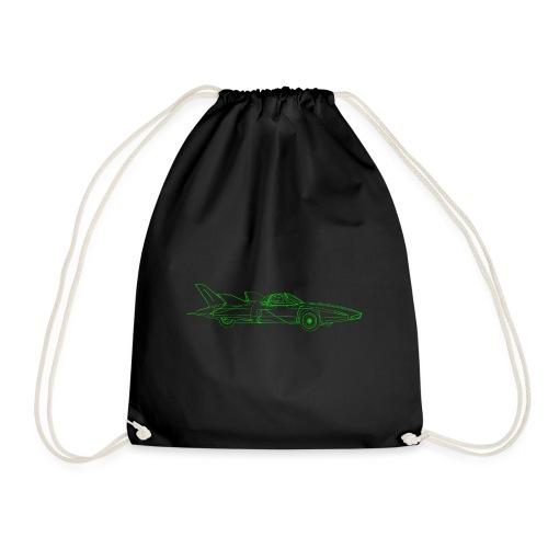 Futuristic Retro Auto - Drawstring Bag