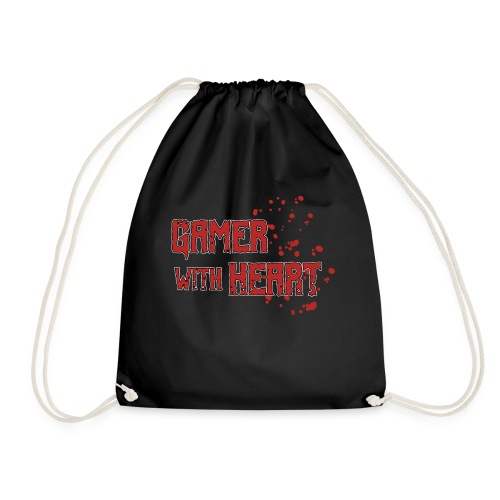 Gamer with heart - Drawstring Bag