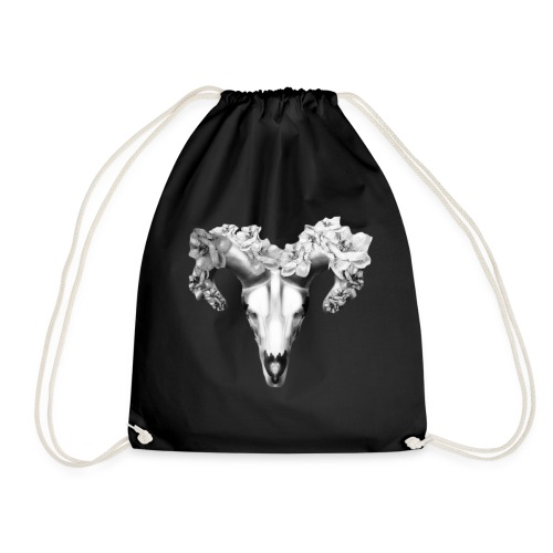 Black & White fashion skull design - Drawstring Bag