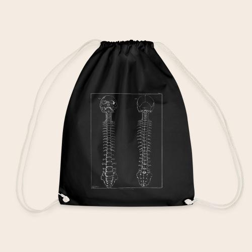 Skeleton white - Drawstring Bag