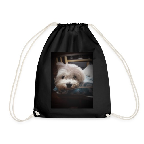 Pure White Pup - Drawstring Bag