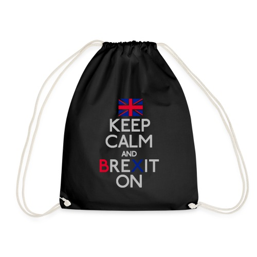 Keep Calm and Brexit On - Drawstring Bag