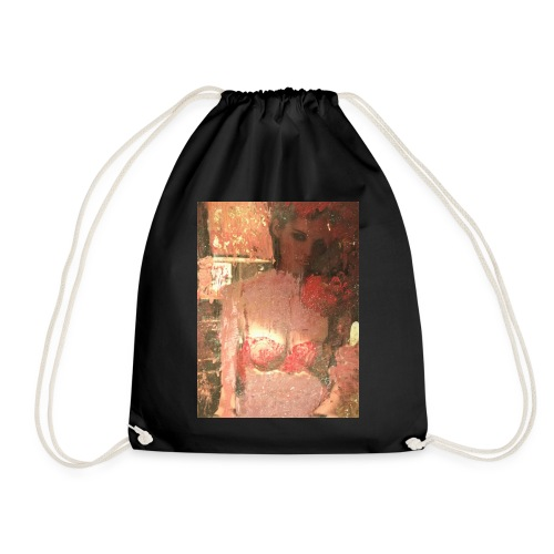 Original Art: Seductive lady - Drawstring Bag