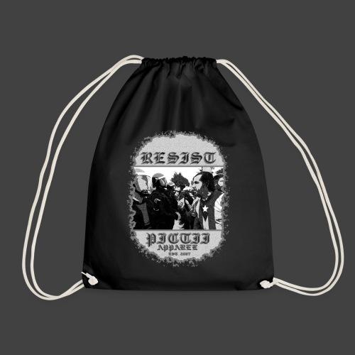 PICTRESIST9 - BLACK & WHITE - Drawstring Bag