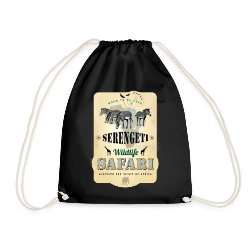 Zebras Wildlife Safari Serengeti Afrika Abenteuer - Drawstring Bag
