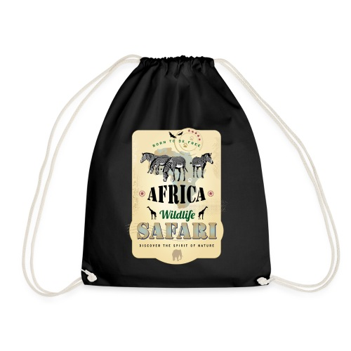 Zebras Africa Wildlife Safari Afrika Abenteuer - Drawstring Bag