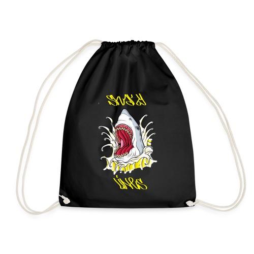 Gr8 butter shark - Drawstring Bag