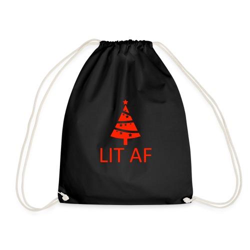 LIT AF Witziges T-Shirt Weihnachten - Turnbeutel