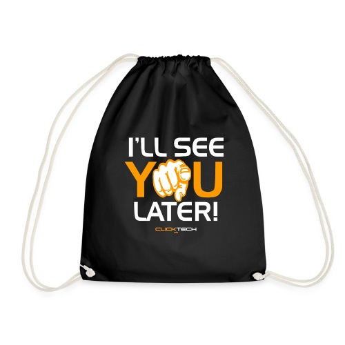 ClickTech UK See You Later Orange White - Drawstring Bag