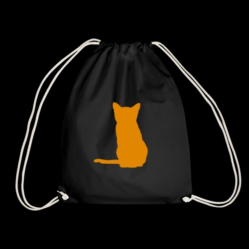 Peach Cat - Drawstring Bag