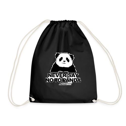 altijd geen Nee zeggen tegen een panda - Gymtas