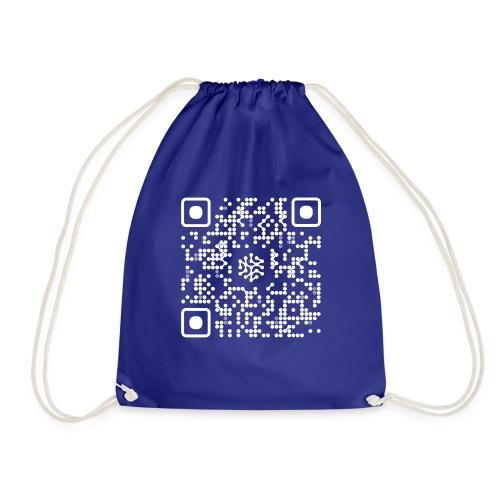 QR Safenetforum White - Drawstring Bag