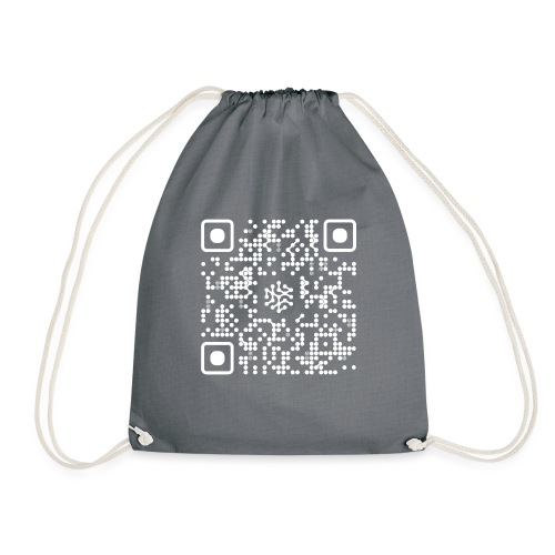 QR Safenetforum White - Drawstring Bag