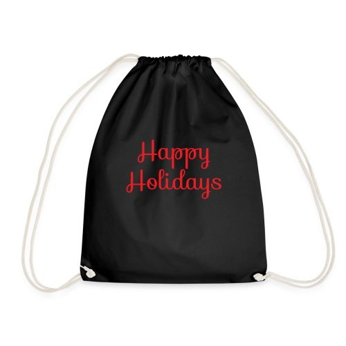 Cool happy holidays Christmas - Drawstring Bag