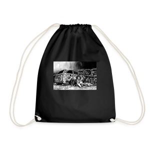 Scarlett Bush hiding from Zombies in Virginia - Drawstring Bag