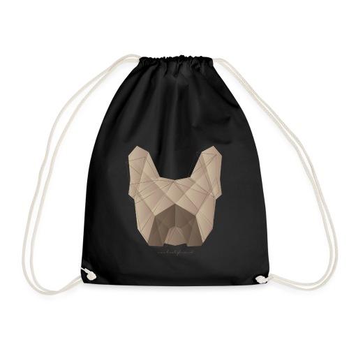 Geometric Frenchie fawn - Französische Bulldogge - Turnbeutel