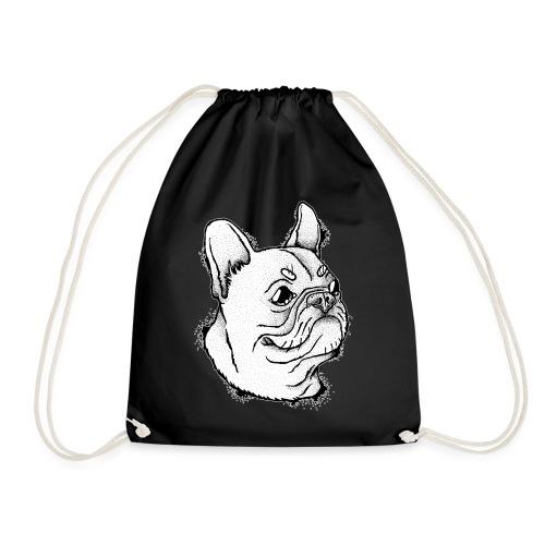 Französische Bulldogge Kopf - Turnbeutel
