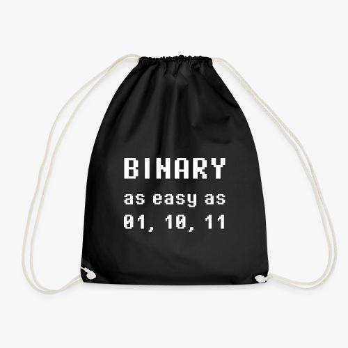 Binary - as easy as 1, 2, 3 (white) - Turnbeutel