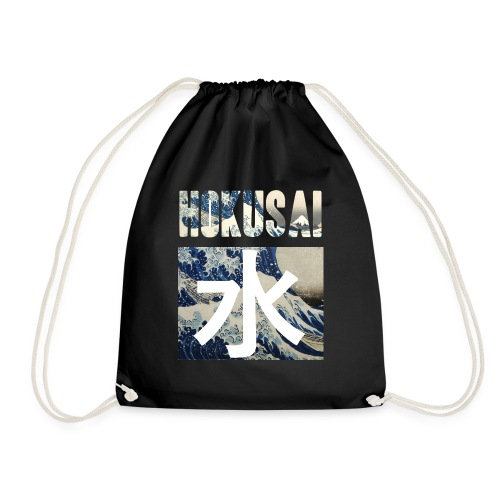 Hokusai Great Wave - Drawstring Bag