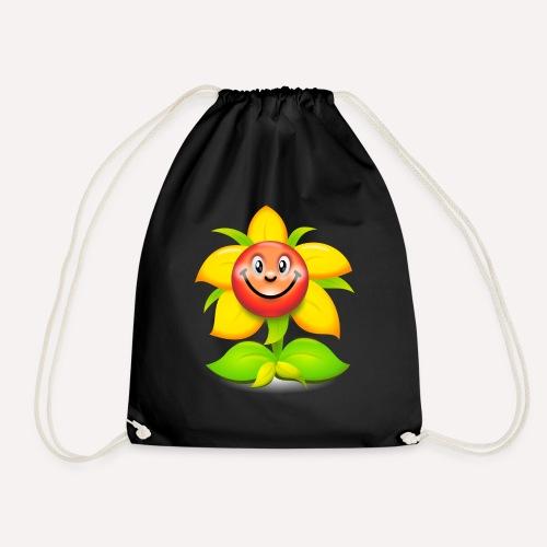 Smiling Face Happy Flower - Drawstring Bag