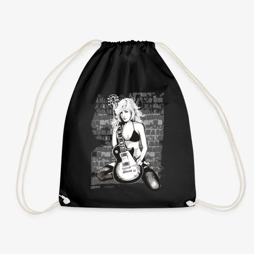 Guitar Girl Gitarren Shirt super Geschenk - Turnbeutel