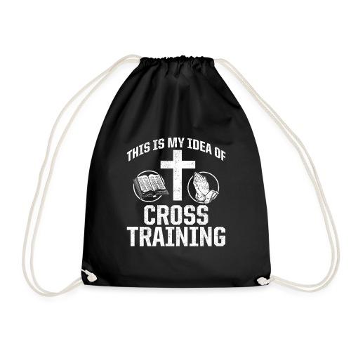 Sport mit Jesus und Bibel lesen Christen Spruch - Turnbeutel