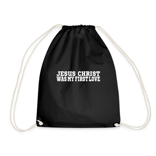 Jesus war meine erste Liebe Christen Tshirt - Turnbeutel