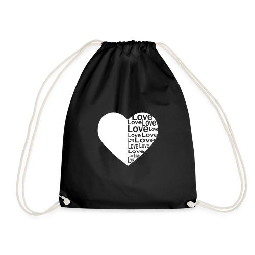 Heart Love, Herz Liebe - Turnbeutel