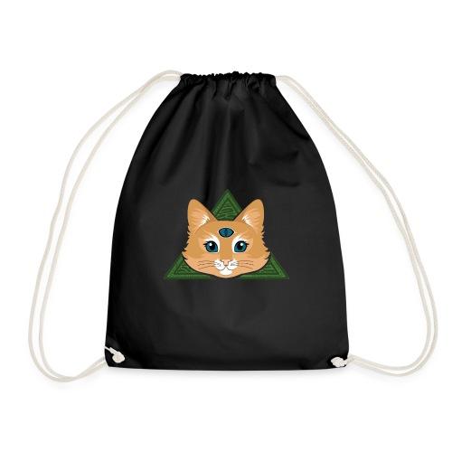 Drei Augen Katze - Turnbeutel