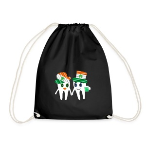 Funny Dentist St Patrick's Tooth Couple Design - Drawstring Bag
