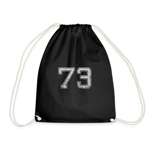 Nummer 73 Zahl Dreiundsiebzig Sieben Drei Geschenk - Turnbeutel