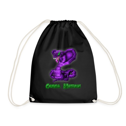 Teenager Cobra Logo Blackout Edition - Drawstring Bag