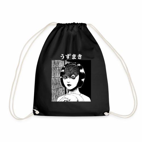 Uzumaki face white - Drawstring Bag