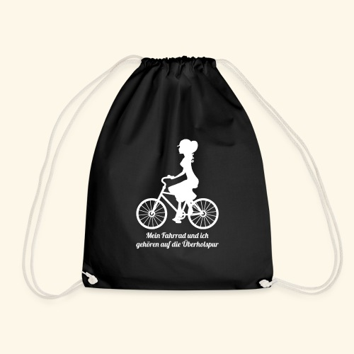 Mein Fahrrad und ich gehören auf die Überholspur - Turnbeutel
