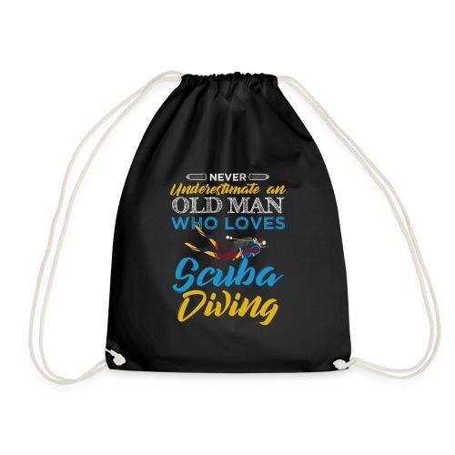Old Man Who Loves Scuba Diving - Turnbeutel