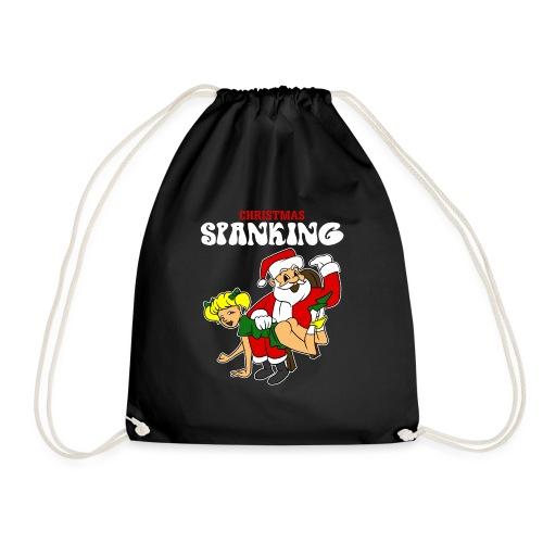 Christmas Spanking - Drawstring Bag