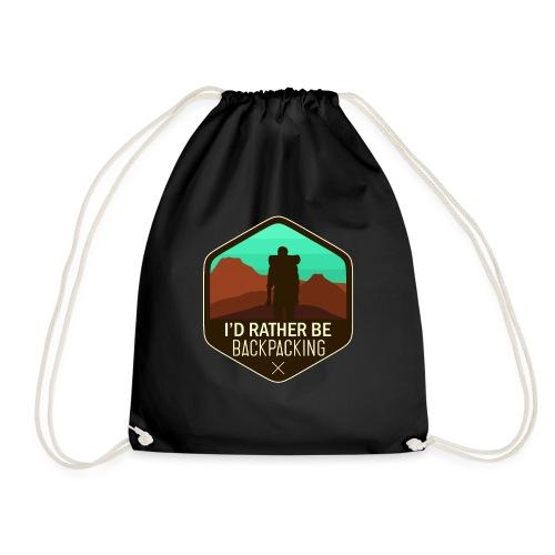 I'd Rather Be Backpacking - Turnbeutel