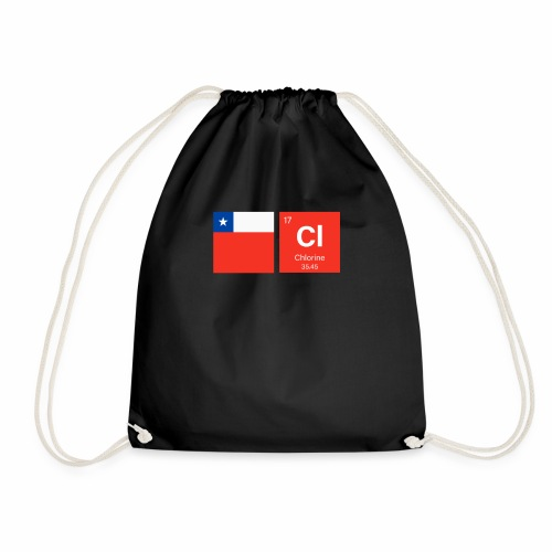 Chile Flag Cl Chemical Element Periodic Table - Drawstring Bag