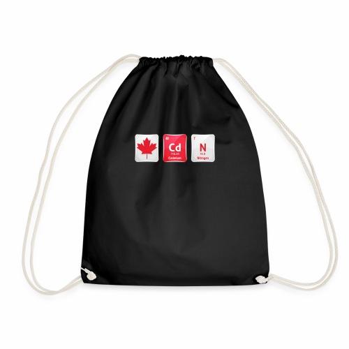 Canada Flag CdN Chemical Element Periodic Table - Drawstring Bag