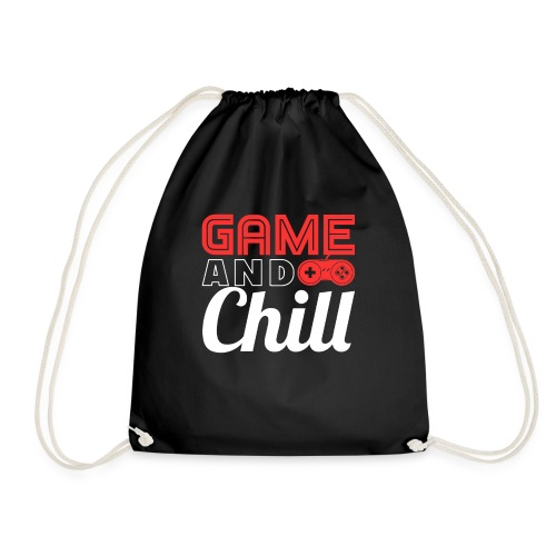 Game And Chill T-Shirt for Gamers - Turnbeutel