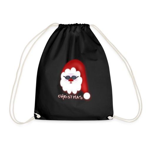 Christmas - cooler Weihnachtsmann - Turnbeutel